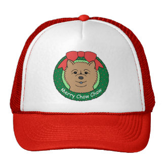 Chow Chow Christmas Trucker Hat