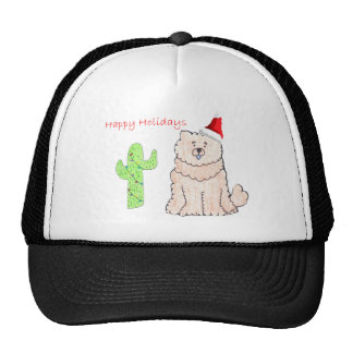 Chow Chow Cream Cactus Christmas Trucker Hat