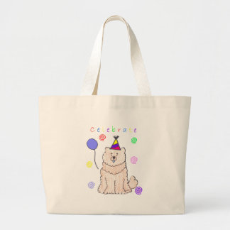 Chow Chow Cream Celebrate Large Tote Bag