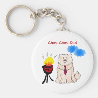 Chow Chow Cream Dad Keychain