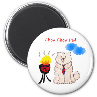 Chow Chow Cream Dad Magnet