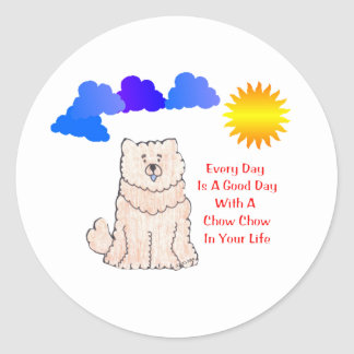 Chow Chow Cream Every Day Is A Good Day Sticker