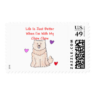 Chow Chow Cream Life Is Just Better Postage