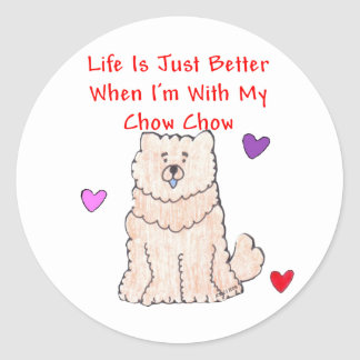 Chow Chow Cream Life Is Just Better Sticker