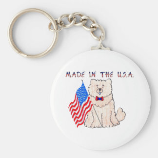 Chow Chow Cream Made In The USA Keychain