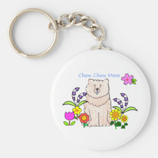 Chow Chow Cream Mom Keychain
