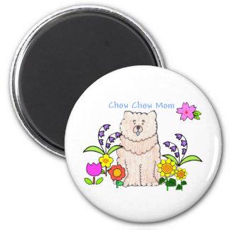Chow Chow Cream Mom Magnet