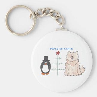 Chow Chow Cream Peace On Earth Keychain