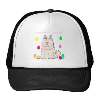 Chow Chow Cream Somebunny Loves Me Trucker Hat