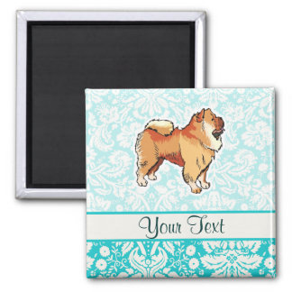 Chow Chow; Cute 2 Inch Square Magnet