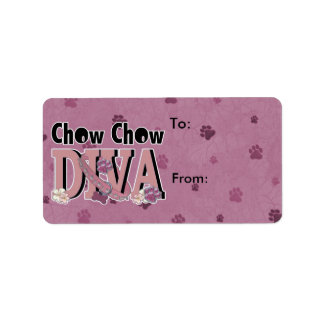 Chow Chow DIVA Label