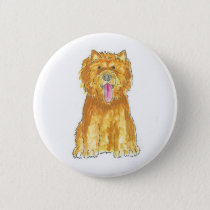 Chow Chow Dog Button