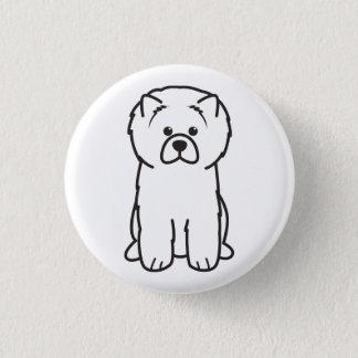 Chow Chow Dog Cartoon Button