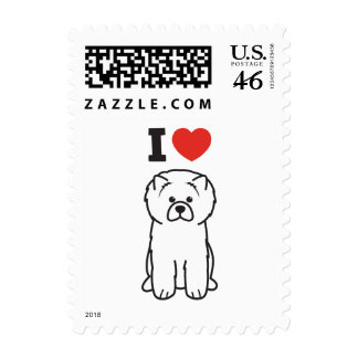 Chow Chow Dog Cartoon Stamps