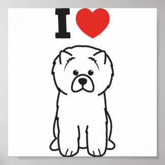 Chow Chow Dog Cartoon Poster