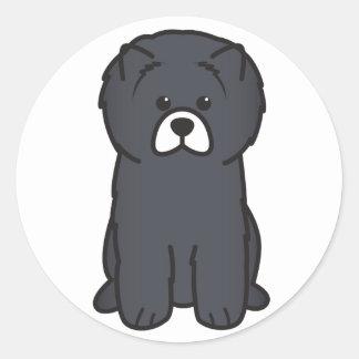 Chow Chow Dog Cartoon Round Stickers