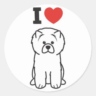 Chow Chow Dog Cartoon Round Sticker