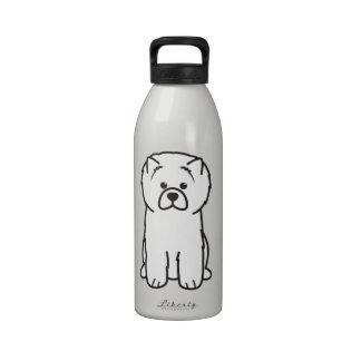 Chow Chow Dog Cartoon Reusable Water Bottles