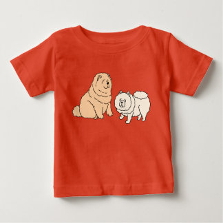 Chow Chow Dog Couple Baby T-Shirt