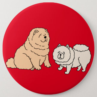 Chow Chow Dog Couple Button
