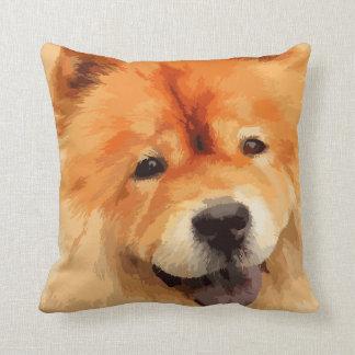 Chow Chow Dog Throw Pillows