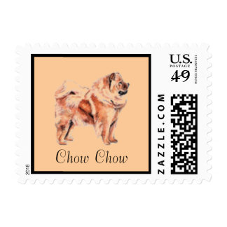 Chow Chow Dog Postage Stamp for letters