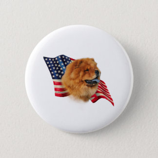 Chow Chow Flag Pinback Button
