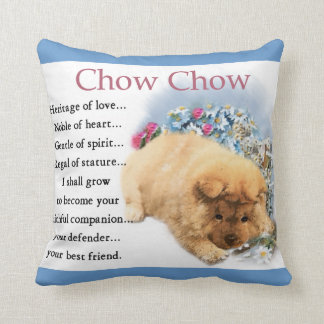 Chow Chow Heritage of Love Puppy Throw Pillow