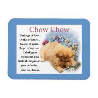 Chow Chow Heritage of Love Rectangular Photo Magnet