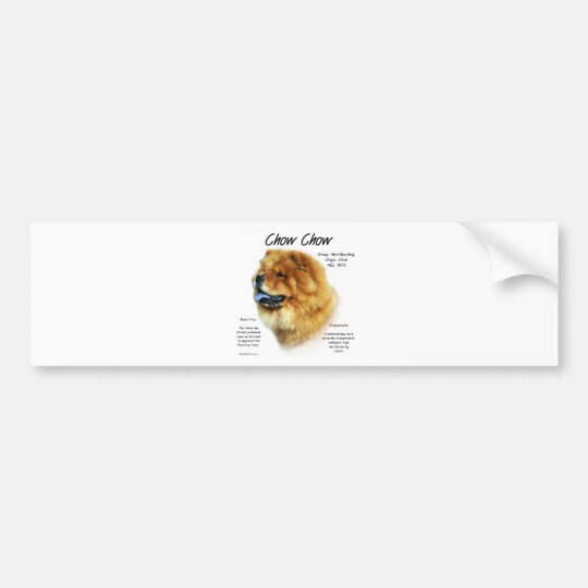 Chow Chow History Design Bumper Sticker