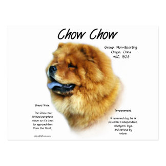 Chow Chow History Design Post Cards