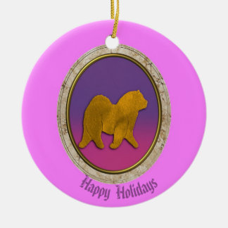 Chow  Chow  Holiday  Ornament