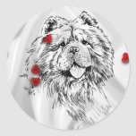 Chow-Chow in Love Round Stickers