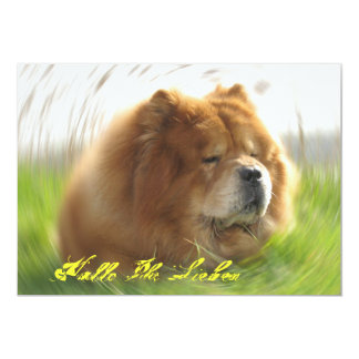 Chow Chow 5x7 Paper Invitation Card
