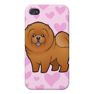 Chow Chow Love (add your own background!) iPhone 4 Case
