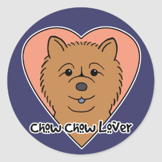 Chow Chow Lover Classic Round Sticker