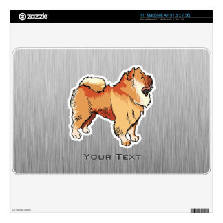 Chow Chow; metal look MacBook Air Decals