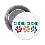 CHOW CHOW Mom Paw Print 1 Pinback Buttons