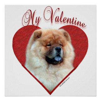 Chow Chow My Valentine Poster