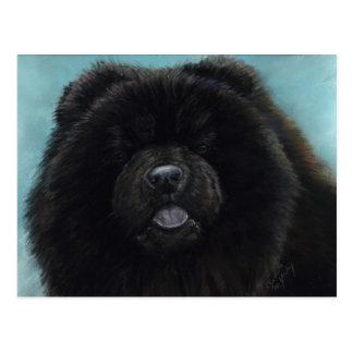 Chow Chow Original Dog Art Postcard