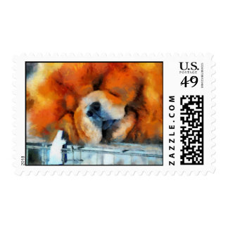 Chow Chow Painting Stamps