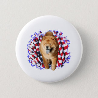 Chow Chow Patriot Pinback Button