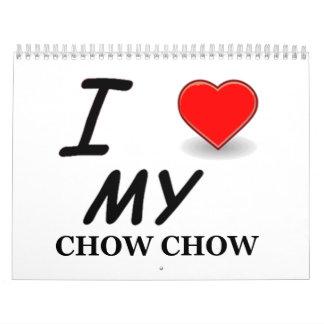 chow chow Printed Calendar