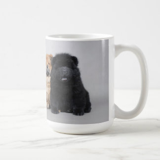 Chow chow puppies classic white coffee mug