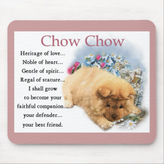 Chow Chow Puppy Art Gifts Mouse Pad