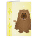 Chow Chow Puppy on Yellow Cards