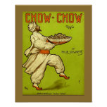 CHOW-CHOW RAG Vintage 1909 Sheet Music Cover Copy Poster