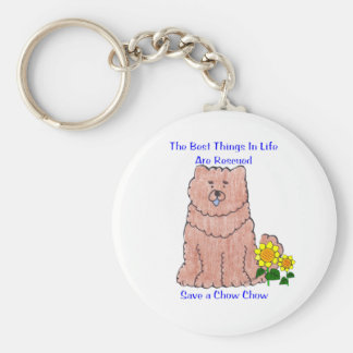Chow Chow Red Best Things In Life Keychain