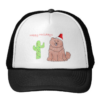 Chow Chow Red Cactus Christmas Trucker Hat