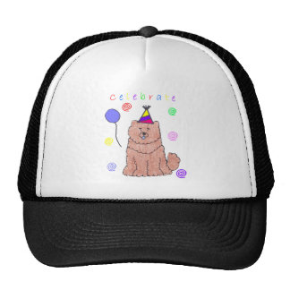 Chow Chow Red Celebrate Trucker Hat